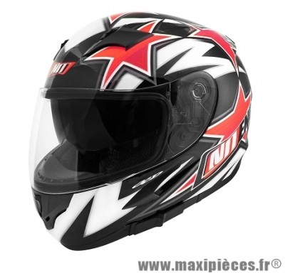 Casque Intégral taille XL marque NoEnd Star By OCD Red SA36 double visière (61-62cm)