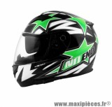 Casque Intégral taille XL marque NoEnd Star By OCD Green SA36 double visière (61-62cm)