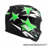 Casque Intégral marque NoEnd Star By OCD Green SA36 double visière taille XXL (63-64cm)