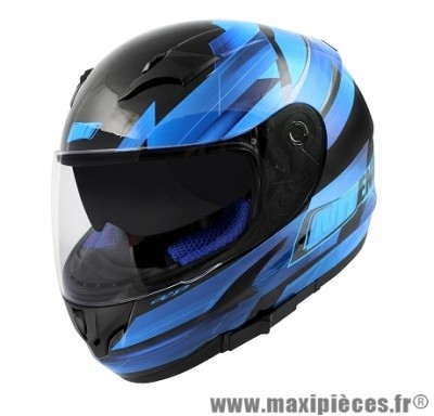 Casque Intégral marque NoEnd Race By OCD Blue SA36 double visière taille XS (53-54cm)