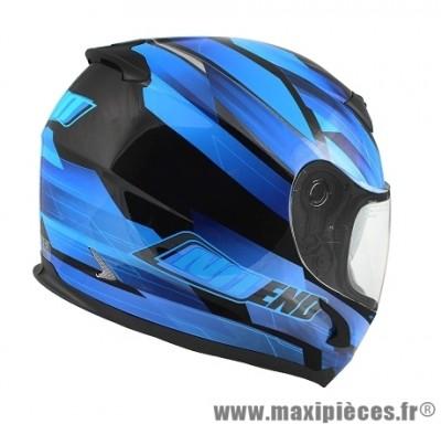 Casque Intégral marque NoEnd Race By OCD Blue SA36 double visière taille L (59-60cm)