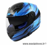 Casque Intégral taille XL marque NoEnd Race By OCD Blue SA36 double visière (61-62cm)