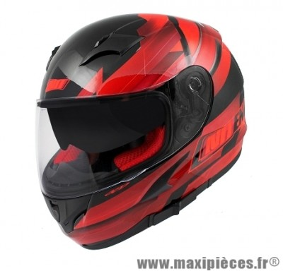 Casque Intégral taille XL marque NoEnd Race By OCD Red SA36 double visière (61-62cm)