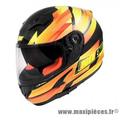 Casque Intégral marque NoEnd Race By OCD Yellow SA36 double visière taille M (57-58cm)