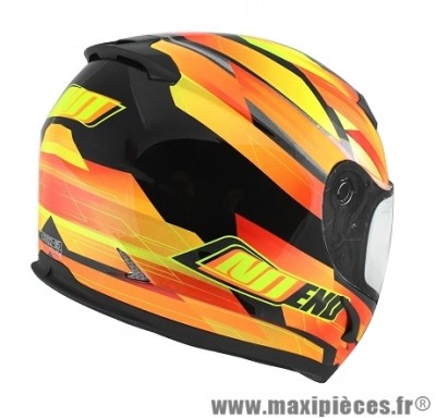 Casque Intégral marque NoEnd Race By OCD Yellow SA36 double visière taille L (59-60cm)