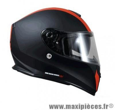 Casque Intégral taille S marque Chok RZX -Racing 16 double écran Noir/Rouge Mat (55-56cm)