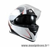 Casque Intégral double écran marque Trendy 17 T-601 Morpheus Noir/Blanc/Rouge Verni taille XS (53-54cm)
