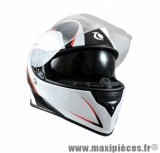 Casque Intégral double écran marque Trendy 17 T-601 Morpheus Noir/Blanc/Rouge Verni taille L (59-60cm)