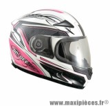 Casque Intégral marque ON/OFF 17 R-Racer Lady Rose/Blanc Verni taille XS (53-54cm)