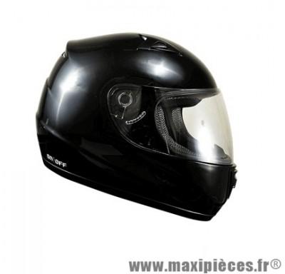 Casque Intégral marque ON/OFF 17 Noir Uni Verni taille XS (53-54cm)