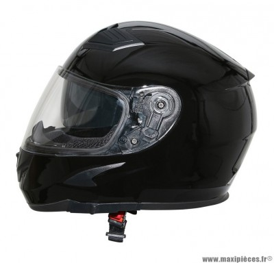 Casque Intégral taille S marque ADX XR3 Uni Noir Brillant (55-56cm) (double écrans)