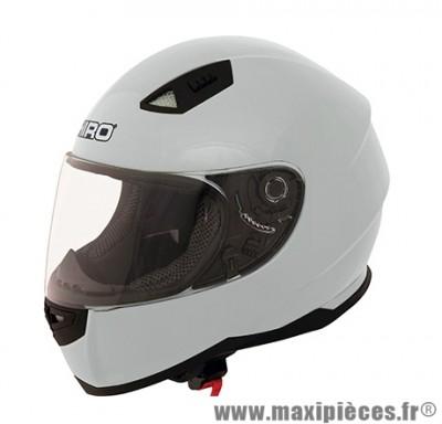 Casque Intégral taille XL marque Shiro SH-881 Monocolor Blanc Brillant (61-62cm)