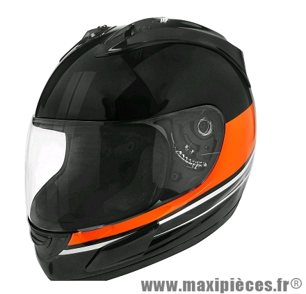 Casque Intégral marque TNT Helmets Merack3 Blanc/Orange Brillant taille XS (53-54cm)