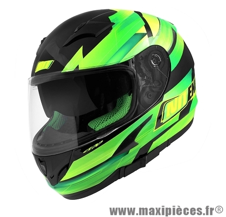 Casque Intégral marque NoEnd Race By OCD Green SA36 double visière taille XS (53-54cm)