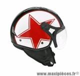 Casque Jet/Bol marque TNT Helios Star Rouge/Noir Brillant taille XS (53-54cm) SB13B