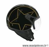 Casque Jet/Bol marque TNT Helios Star Noir/Or Brillant taille XS (53-54cm) SB13B