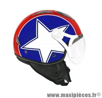 Casque Jet/Bol marque TNT Helios Star Usa Brillant taille XS (53-54cm)