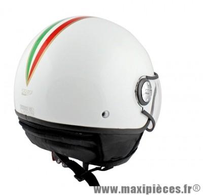 Casque Demi-Jet marque TNT Puck Italia taille S (55-56cm) White