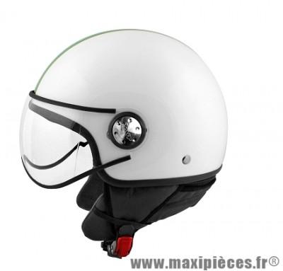 Casque Demi-Jet marque TNT Puck Italia taille M (57-58cm) White