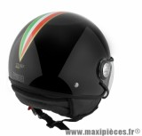 Casque Demi-Jet marque TNT Puck Italia taille S (55-56cm) Black