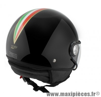 Casque Demi-Jet marque TNT Puck Italia taille XL (61-62cm) Black
