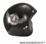 Casque Jet/Bol marque Chok Racing 15 Verni taille XS (53-54cm) (sans visière ni écran)