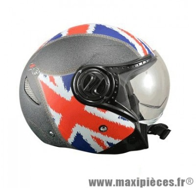 Casque Jet/Bol City marque ON/OFF 17 Union Jean's Mat taille XS (53-54cm)