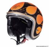 Casque Jet/Bol marque MT Le Mans SV Flaming Noir Mat-Orange taille XS (53-54cm)