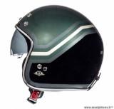 Casque Jet/Bol marque MT Le Mans SV Trio Noir Mat-Vert Militaire taille XS (53-54cm)