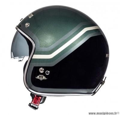Casque Jet/Bol marque MT Le Mans SV Trio Noir Mat-Vert Militaire taille L (59-60cm)