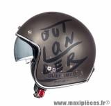 Casque Jet/Bol marque MT Le Mans SV Outlawder Marron Metal Mat-Noir taille L (59-60cm)