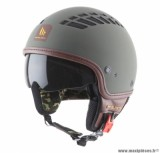 Casque Jet/Bol marque MT Cosmo Solid Rubber Vert Militaire Mat taille XS (53-54cm)