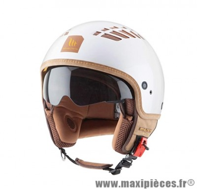 Casque Jet/Bol taille XL marque MT Cosmo Solid Blanc Perle (61-62cm)