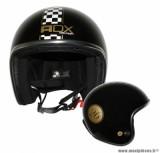 Casque Jet/Bol marque ADX Legend Damier Noir Brillant taille XS (53-54cm)