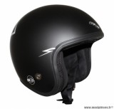 Casque Jet/Bol marque ADX Legend Magic Rider Noir Mat taille L (59-60cm)
