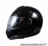 Casque Moto Scooter Modulable marque Chok Urban 16 Noir Uni Verni taille XS (53-54cm)