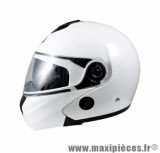 Casque Moto Scooter Modulable marque Chok Urban 16 Blanc Uni Verni taille XS (53-54cm)