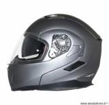 Casque Moto Scooter Modulable marque MT Flux double écrans Gris Titanium Mat taille L (59-60cm)