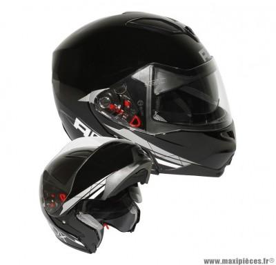 Casque Moto Scooter Modulable marque ADX M2 double écran décoNoir Brillant taille XS (53-54cm)