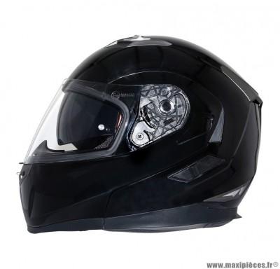 Casque Moto Scooter Modulable taille S marque MT Flux double écrans Noir Brillant (55-56cm)