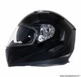 Casque Moto Scooter Modulable marque MT Flux double écrans Noir Brillant taille L (59-60cm)