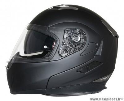 Casque Moto Scooter Modulable marque MT Flux double écrans Noir Mat taille L (59-60cm)