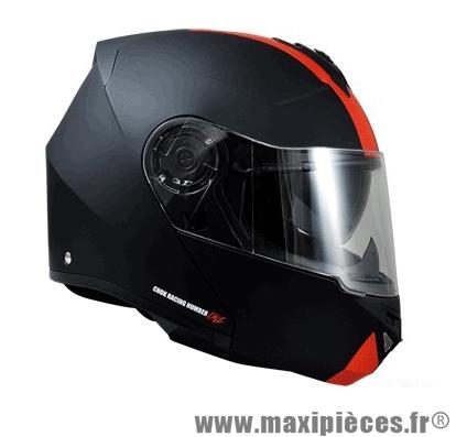 Casque Moto Scooter Modulable marque Chok Rsx-Racing 16 Noir/Rouge Mat taille L (59-60cm)