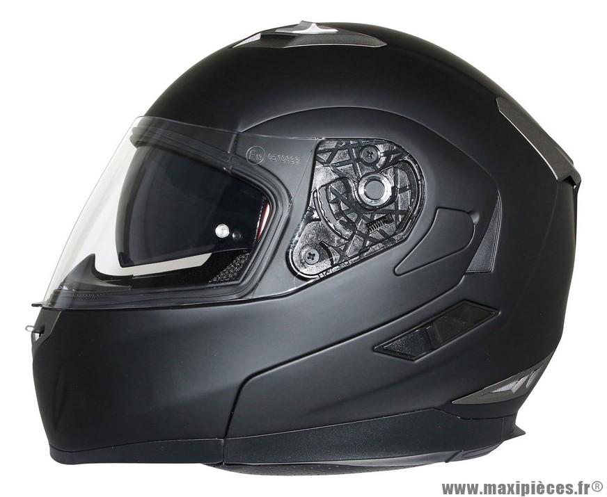 Casque Moto Scooter Modulable marque MT Flux double écrans Noir Mat taille XXL (63-64cm)