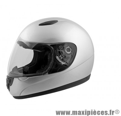 Casque Intégral Enfant taille YS (48-49cm) marque TNT Helmets Mino Argent SA03