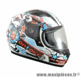 Casque Intégral Enfant taille YL (52cm) marque ON/OFF 17 Cartoon Rouge Verni T52