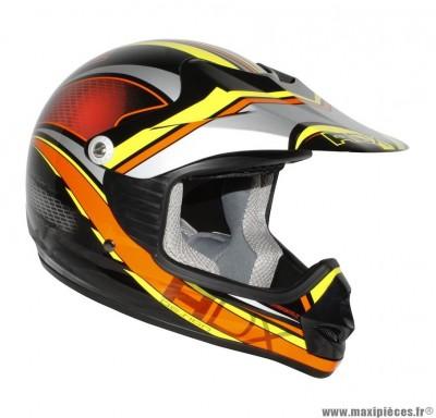 Casque Moto Cross Enfant taille YM (49-50cm) ADX MX2 Tunderbolt Noir/Orange