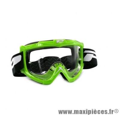 Masque Cross Moto marque Progrip 3301 Vert