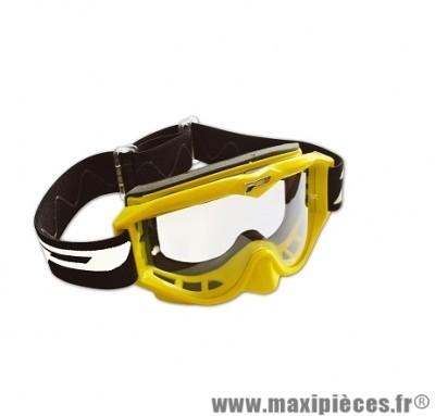 Masque Cross Moto marque Progrip 3200 Jaune