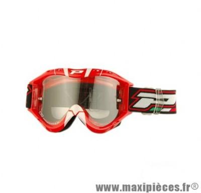Lunette/Masque marque Progrip 3400 Rouge anti-buée/Rayure + Etui